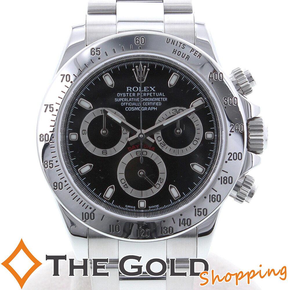 ROLEX ロレックス デイトナ 116520 V番 黒文字盤 116520 時計 腕時計 メンズ[男性用] 【中古】