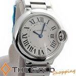 カルティエ/Cartier:バロンブルーSM並行2012年10月28mmW69010Z4時計腕時計レディース[女性用]【中古】