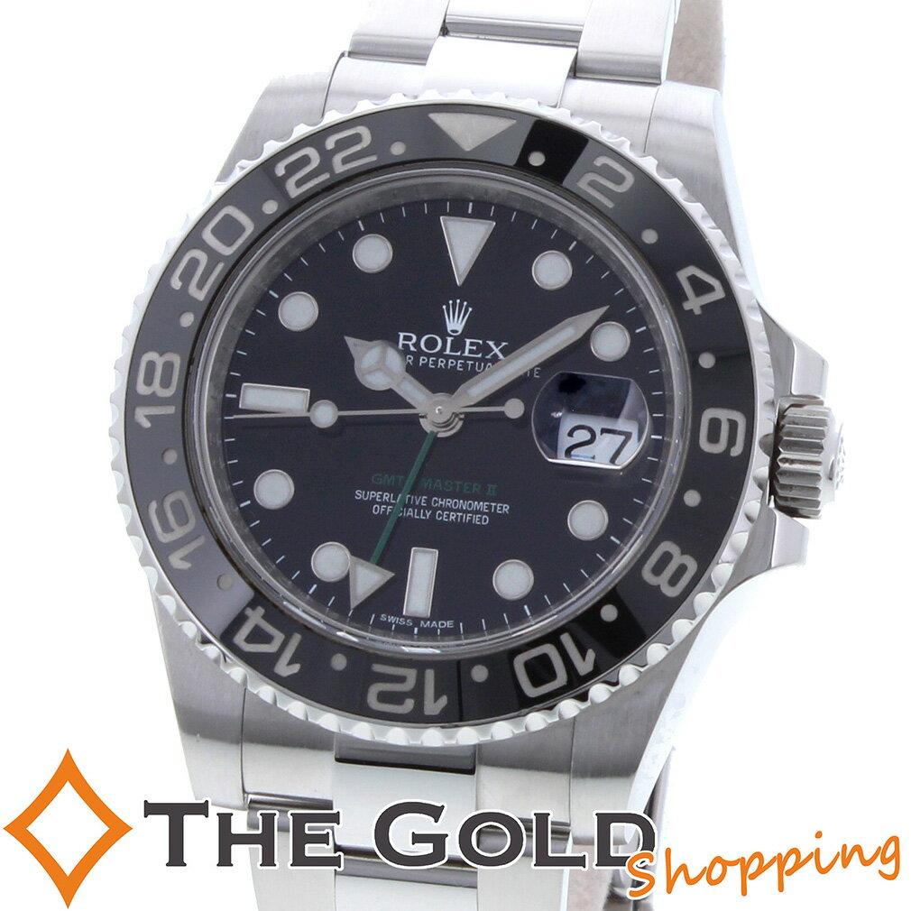 ROLEX ロレックス GMTマスター2 116710LN 黒ベゼル ランダム 時計 腕時計 メンズ[男性用] 【中古 ユーズド】ご褒美 ギフト プレゼント ホワイトデー 春 先取り ビジネス