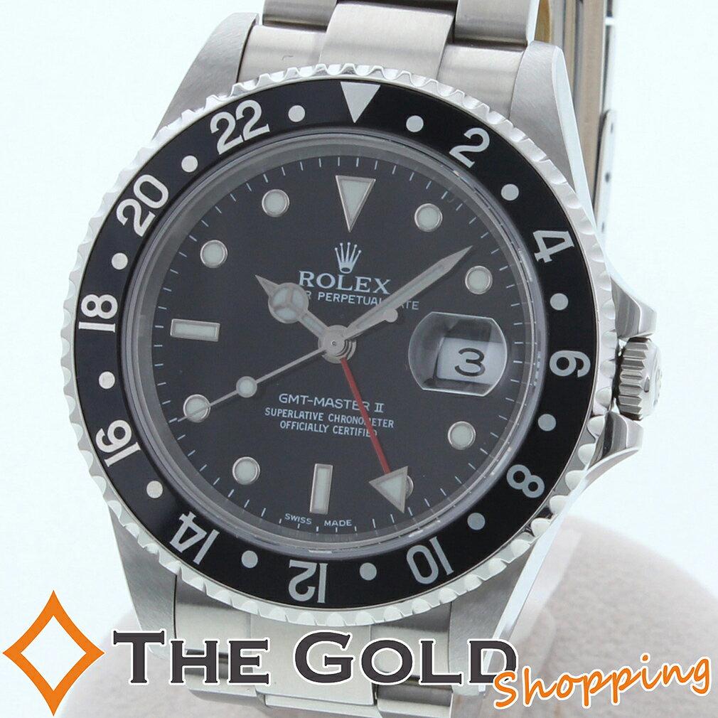 ROLEX ロレックス GMTマスター2 Y番 並行 2004年2月 黒ベゼル 16710 時計 腕時計 メンズ[男性用] 【中古 ユーズド】ご褒美 ギフト プレゼント ホワイトデー 春 先取り ビジネス