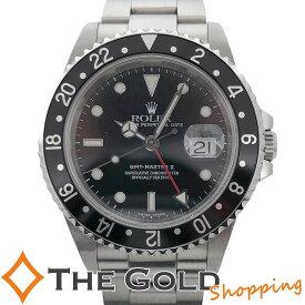 【中古】ロレックス GMTマスター2 16710 K番 並行 黒黒 フルコマ OH済 ROLEX 腕時計 メンズ[男性用]ギフト プレゼント ご褒美 新年会 ザ・ゴールド