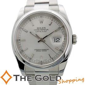 【中古】ロレックス デイトジャスト 116200 2015年 国内 磨き済 シルバー文字盤 AT SS ROLEX 腕時計 [メンズ 男性用]