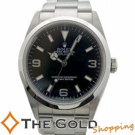 【中古】ロレックス エクスプローラー1 114270 Y番 2003年 並行 OH済 フルコマ SS AT ROLEX スポーツ 腕時計 メンズ[男性用]