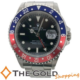 【中古】ロレックス GMTマスター 16700 A番 OH済 ペプシ 赤青 ベゼル ステンレス SS AT 黒文字盤 自動巻 ROLEX 腕時計 メンズ[男性用]