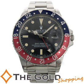 【中古】ロレックス GMTマスター 16750 青赤 OH済 トリチウム フチなし 自動巻き SS ROLEX スポーツ 腕時計 メンズ[男性用]