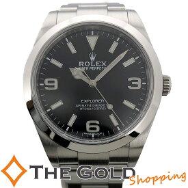 【中古】ロレックス エクスプローラー1 214270 並行 2019年7月 ランダム 黒文字盤 磨き済 SS 自動巻き ROLEX スポーツ 腕時計 メンズ 男性用