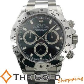 【中古】ロレックス デイトナ 116520 P番 並行 2002年 黒文字盤 SS 自動巻き ROLEX DAYTONA 腕時計 メンズ[男性用]
