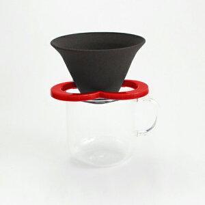カフェハット コーヒー セラミックフィルター ペーパーレス ドリッパー 赤 Coffee hat red 肥前吉田焼