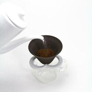 カフェハット コーヒー セラミックフィルター ペーパーレス ドリッパー 白 Coffee hat white 肥前吉田焼