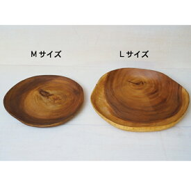 木製食器 アカシア WOOD スライスプレート Mサイズ 25cm お皿 プレート