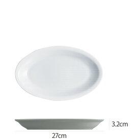 Saturnia(サタルニア) ローマプレーン オーバルプレート27cm 食器