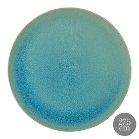 HARVEST CRAZE ハーベスト クレイズ 27.5cm プレート ブルー 信楽焼 皿
