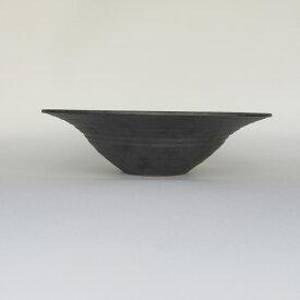 HARVEST kuro 鉢 帽子型 プレート 信楽焼 皿 24cm