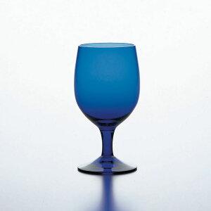 カラーステム ゴブレット BLUE ブルー HS強化グラス 340cc