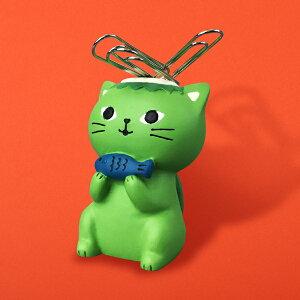 猫 ねこ ネコ クリップホルダー クリップ 妖怪 河童 デコレ プレゼント かわいい 雑貨 グッズ 誕生日 ギフト プレゼント |【猫まっしぐらセレクト】うらめしにゃんこ夜行 猫のクリップホル
