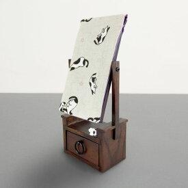 猫 ねこ ネコ 鏡 鏡台 姿見 プレゼント かわいい 雑貨 グッズ 誕生日 ギフト プレゼント |【猫まっしぐらセレクト】T'S COLLECTION 猫の姫鏡台-猫の親子