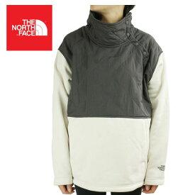 ノースフェイスTHE NORTH FACE レディース パーカーW ROSIE SHERPA POロージーシェルパプルオーバーGGREY/V WHITE(グレー/ホワイト)白 キルティング 灰色