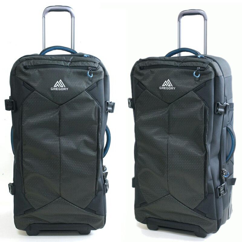 GREGORYグレゴリーSPLIT CASE ROLLER DUFFLE 32スプリットケース ローラーダッフル32SLATE BLACK(スレートブラック)男女兼用 旅行 スーツケース 黒 ダッフルバッグ