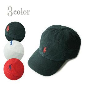 ラルフローレン キャップPOLO RALPH LAURENポロラルフローレンCOTTON CAPポニー刺繍コットンキャップBLACK(ブラック) RED(レッド) WHITE(ホワイト)ロゴ 帽子 男女兼用 黒 赤 白