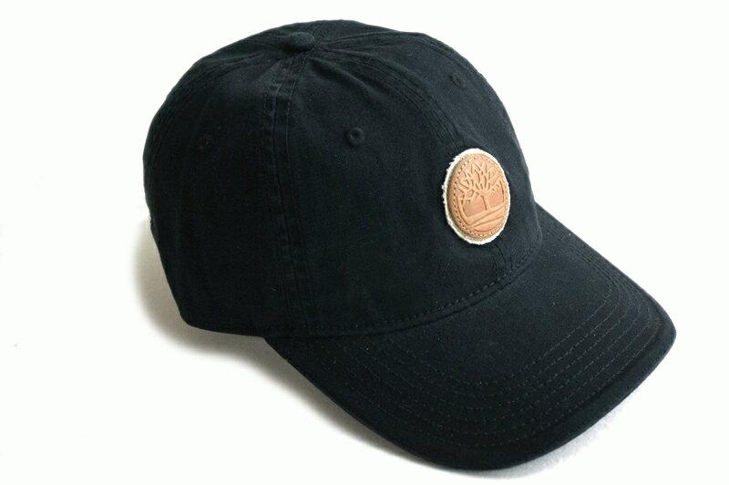 【新入荷】TIMBERLANDティンバーランドDUCK STRAPBACK LEATHERPATCH CAPダックストラップバックレザーパッチキャップBLACK(ブラック)男女兼用 帽子 黒 ロゴ
