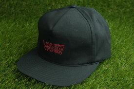 VANS ヴァンズ バンズ SKETCH TAPE SHALLOW CAPスケッチテープシャローキャップBLACKxRED (ブラックxレッド)メンズ 男女兼用 刺繍 黒 赤 ロゴ