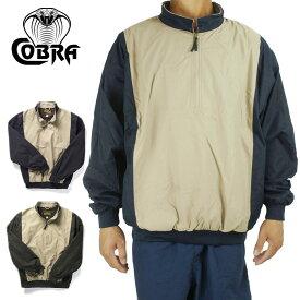 メンズ ジャケットCOBRA CAPS コブラキャップスMicrofiber PulloverKHAKI/BLACK(カーキ/ブラック) KHAKI/NAVY(カーキ/ネイビー)プルオーバー 紺 黒 ベージュ ツイル