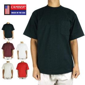 メンズ Tシャツキャンバー CAMBER302 マックスウェイトポケットTシャツCAMBER 302 POCKET TEEBLACK(ブラック) NATURAL(ナチュラル) BURGUNDY(バーガンディー) RED(レッド) WHITE(ホワイト)男女兼用 黒 赤 白 アイボリー