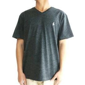 ラルフローレンPOLO RALPH LAUREN ポロラルフローレンM ONE POINT V-NECK TEEメンズ ワンポイントブイネックTシャツBLACK(ブラック)メンズ Tシャツ 半袖 ヘザー 黒 杢