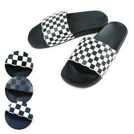 バンズ メンズサンダルVANS ヴァンズSLIDE ON スライド オン(CHECKERBOARED)WHITE/BLACK(ホワイト/ブラック) (CHECKERBOARED)BLACK/ASPHALT(ブラック/アスファルト) (CHECKERBOARED)DRESS BLUES(ドレスブルース)メンズスリップ 紺 黒 灰色