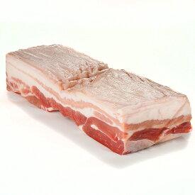 皮付き 豚バラ肉 ブロック 約800g 五枚肉 豚肉ばら ラフテーやローストにどうぞ! -P114