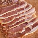 (無添加・砂糖不使用)手作りバックベーコンスライス(Back Bacon)/塩漬け豚肉-H003a