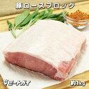 豚ロース (ポークロイン) ブロック 1kgカット トンカツ/ロースカツ/煮込み/ポークチョップ -P104b