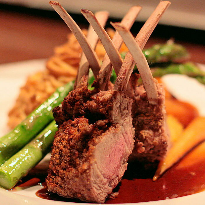 【あす楽】ニュージーランド産フレンチラムラック・ラム肉/羊肉かたまり 1ラック(ラムチャップ8本分)ラムラブスパイスミックス付 NZ産極上ラムチョップ♪-L016