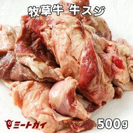 牛スジ 牛筋肉 500g入り おでんや牛スジカレー・スジ煮込料理に! グラスフェッドビーフ/牧草牛 -B121