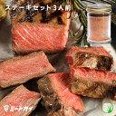 ステーキ肉 ステーキお試しセット (リブアイステーキ3枚とステーキスパイス)初めてのお客様への一押し!-SET820