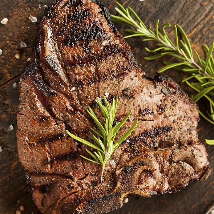 ステーキ肉 USDAチョイス アメリカ産ポーターハウスステーキ 骨付きステーキ 牛肉/Tボーンステーキの贅沢サイズ -USB400