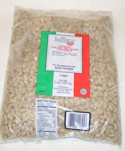 (新サイズ)ピザトッピング用イタリアンソーセージ 業務用サイズ 約1kg【YDKG-tk】