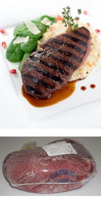 ステーキ肉 ダチョウ肉(オーストリッチ)ランプステーキ用 ブロック 約1kg