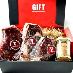 お中元 (送料無料)ギフトセット 3種のグラスフェッドビーフステーキ 食べ比べセット 1kg ギフト プレゼント 父の日ギフト -GIFT-002
