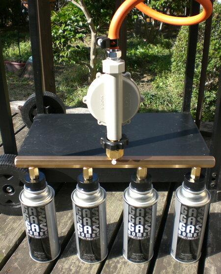 ガスグリル用 カセットガスアダプター 4本タイプ/バーベキューコンロ・バーベキューグリル用