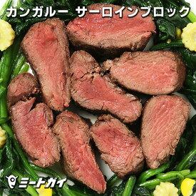 (お盆も毎日発送)カンガルー肉 サーロイン ブロック 約450g オーストラリア産 ルーミート (直輸入品) バーベキューの材料に! 鉄分豊富 ヘルシー ステーキ/たたきにもぴったり 高たんぱく 低カロリー 低脂肪 ジビエ -D007a