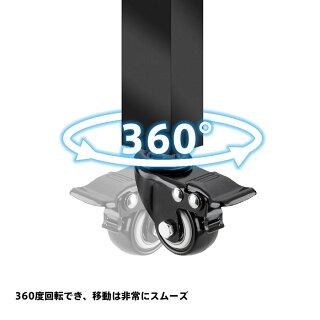 タイヤラック用キャスター車輪360度回転可能移動便利静音化タイヤスタンド専用キャスターストッパー付き4個セット専用キャスター