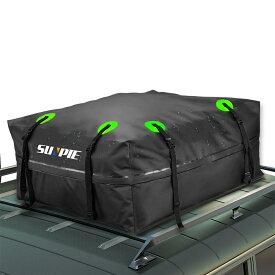 ルーフキャリアバッグ ルーフボックス 433L大容量ルーフバッグ 収納バッグ付 折り畳み 取付簡単 防水 防雨 防雪 防風 キャンプ アウトドア ルーフトップカーゴバッグ キャンピングカー バン SUVなどに適応