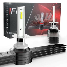 LEDヘッドライト LEDフォグランプ H1 H7 H8 H11 H16 HB3 HB4 一体型 リボン式 新車検対応 60W 8000ルーメン 6500K DC12/24V ファンレス カットラインOK ハイブリッド車対応 配光調整可能 ledバルブ led フォグ