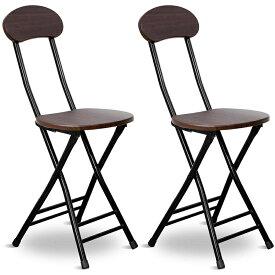 折りたたみチェア パイプ椅子 ダイニングチェア 幅25×奥行32×高さ77cm 学習チェア 食卓椅子 椅子 折りたたみ椅子 軽量 シンプル 折り畳み式 完成品 在宅勤務 会議用 2脚セット