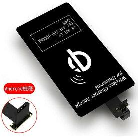【2月25日ポイント10倍】ワイヤレス充電レシーバー Android 置くだけで Qi(チー) 規格 USB スマホ対応ワイヤレスレシーバーシート 非接触充電 Qiレシーバー ワイヤレス充電 Micro-USB端子対応