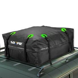 【ポイント5倍】ルーフキャリアバッグ ルーフボックス 433L大容量ルーフバッグ 収納バッグ付 折り畳み 取付簡単 防水 防雨 防雪 防風 反射タスキ付 キャンプ アウトドア ルーフトップカーゴバッグ キャンピングカーバン SUV適応