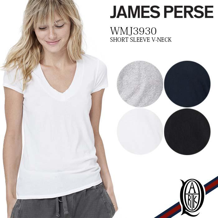 【正規取扱店】JAMES PERSE WMJ3930 [4色]レディース半袖深Vネックカットソー (ジェームスパース)