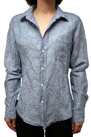 【正規取扱店】Frank&Eileen BARRY DNFLR レディースシャツ STONE WASHED INDIGO フランクアンドアイリーン バリー