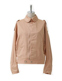 【正規取扱店】beautiful people 17S/S finx cotton satin french flight jacket coral (ビューティフルピープル)